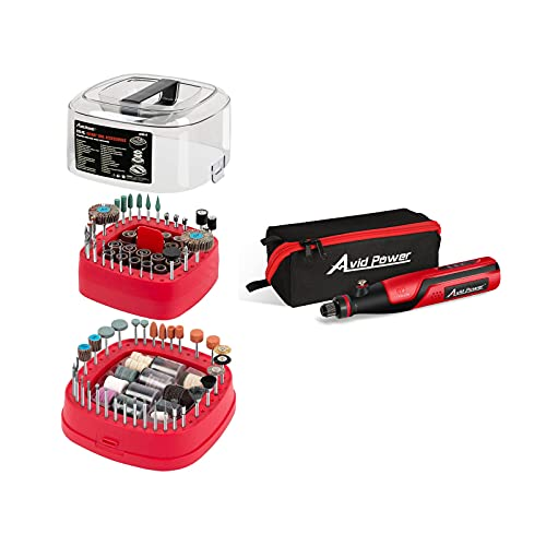 AVID POWER Rotary Tool Accessories Kit 276 Pieces bundle with AVID POWER 4V Cordless Rotary Tool with 62Pcs Rotary Accessories Kit