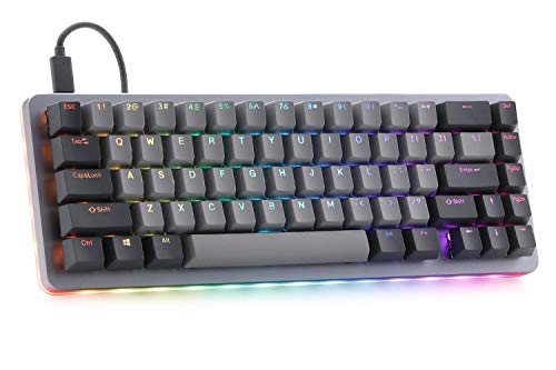 Drop ALT Mechanical Keyboard — 65% (67 Key) Gaming Keyboard, Hot-Swap Switches, Programmable Macros, RGB LED Backlighting, USB-C, Doubleshot PBT, Aluminum Frame (Cherry MX Blue RGB)