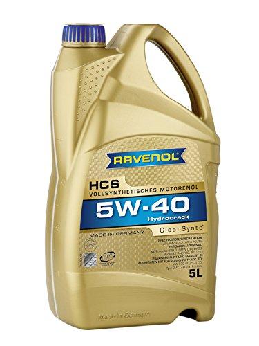 RAVENOL HCS SAE 5W-40 / 5W40 Motoröl, ACEA A3/B3, ACEA C3 (5 Liter)