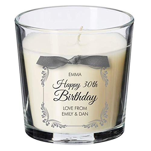 30th birthday present personalised gift candle gifts for women her men...