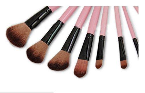 Cexin rose professionel 15 pinceaux de maquillage équis avec trousse