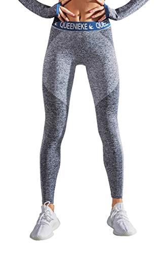 QUEENIEKE damskie bezszwowe sportowe legginsy energetyczne spodnie slim fit siłownia ciasne