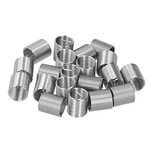 20 piezas M14 x 1,25 hilo de reparación de hilo de alambre de inserción espiral círculo enchufe de rosca funda de hilo conjunto de enchufes de hilo herramienta de inserciones(2D)