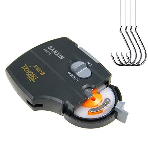 THKFISH Livello del Gancio da Pesca, Macchina Automatica Elettrica Portatile Ami da Pesca Line Tying Device Livello di Attrezzi da Pesca Attrezzatura da Pesca