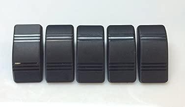 Black Euro Rocker Marine Switch Cover 5 Pack