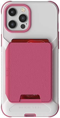 Ghostek Exec - Cartera magnética compatible con iPhone 12 Pro Max con tarjetero para carga inalámbrica y imán integrado ideal para soportes de coche iPhone 12 Pro Max (6.7 pulgadas) (rosa)