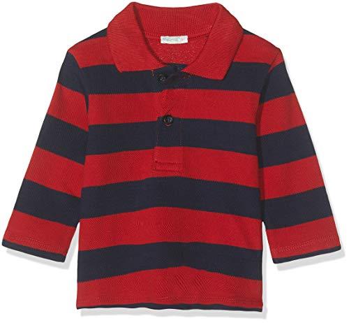 UNITED COLORS OF BENETTON Polo Righe Piquet, Multicolore (Blu/Rosso 901), 62/68 (Taille Fabricant: 62) Bébé garçon