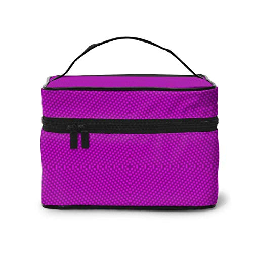Bolsas de cosméticos 26 Carbon Fiber Violet(221) Travel Makeup Bag Portable Makeup Boxes for Women Cosmetic Case Storage Organizer Travel Daily Carry