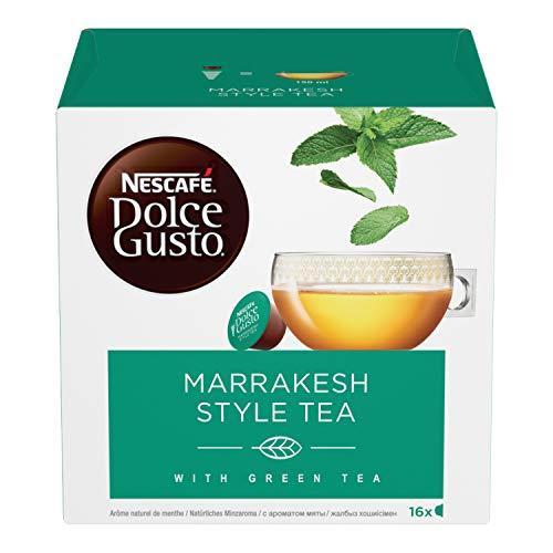 Nescafé Dolce Gusto Marrakesh Style Tea Tè Verde Aromatizzato alla Menta, 16 Capsule