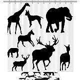 WANNABUY Cortina de ducha impermeable (70.8 pulgadas) con 12 ganchos y alfombras antideslizantes de baño (19.6 x 31.4 pulgadas), juego de 2 SHUTTERSTOCK_35420116_Photo