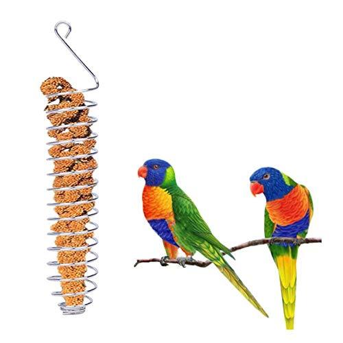 Comedero para Pájaroscomedero para Pájaros, Acero Inoxidable, Comida para Loros, Frutas, Cesta Vegetal, Soporte para Cotaniner, Dispositivo De Alimentación, Jaula, Juguete De Forrajeo, 1 Unidad,