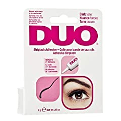 COMPLETE YOUR DRAMATIC AND GLAMOROUS LOOK: Recommended by professional lash artists, DUO Strip Eyelash Adhesive, Dark Tone is ideal for smokey eye makeup, dark color lashes, thick and voluminous fake lashes. Many users boast that they could entirely ...