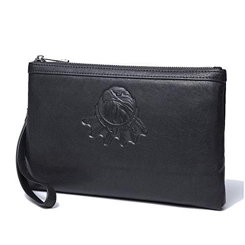 EEKUY Koeienhuid Aktetas tas met 10 Card Slot, Mannen Polsband Koppeling Zakelijke Envelop Tas Telefoontas Tabletten Tas 11 X 6.9 X 1 Inch