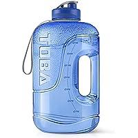 ToBa 128 oz BPA Free Large Motivational Sports Water Bottle