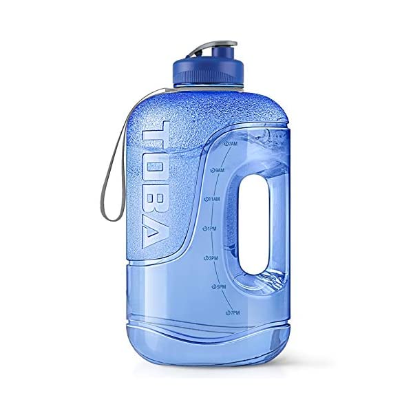 1 Gallon Water Bottle with Time Marker – 128 oz BPA Free Large Motivational...