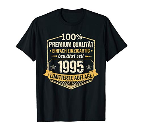 25. Geburtstag Jahrgang 1995 Mann Frau Einzigartig Geschenk T-Shirt