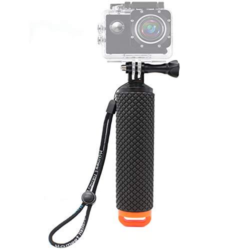 Homeet Schwimmer Handgriff Schwimmender Hand Grip Unterwasser Handstick Monopod Pole Selfie Stick Ergonomisch für Action Kameras 【Orange】