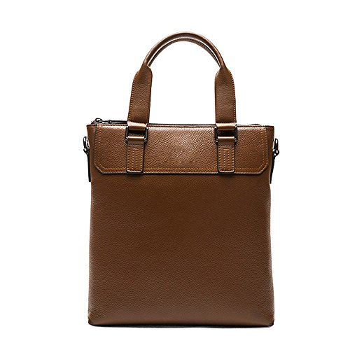 TEET Laptop Messenger Bag Men's Briefcase Cowhide Bag Casual Shoulder Messenger Bag Suitable For Business Casual Shoulder Bag