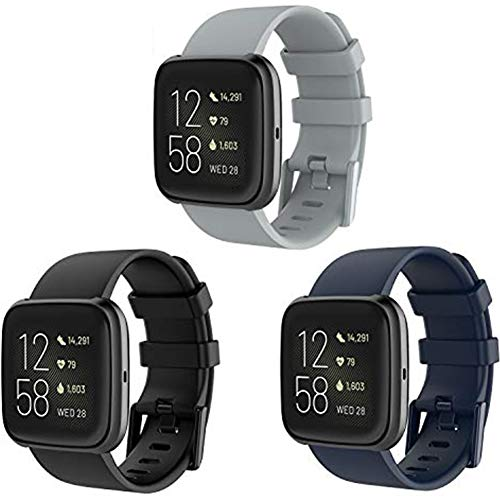 fibbia cinturino orologio KingAcc Compatibile Versa 2 Cinturini