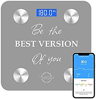 Smart Digital Scale for Weight and Body Fat - Lean muscle - Motivational Bluetooth Scale and Body Analyzer- Bathroom Scale...