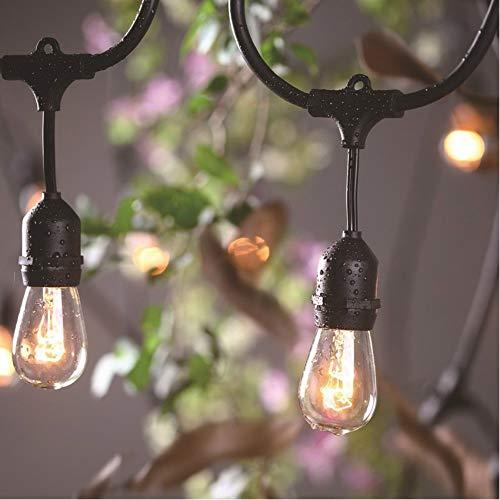 Impermeable doble bola intermitente cadena de luz LED bola de luz de color cálido blanco uva luz 220 V cadena de luz evento de boda decoración