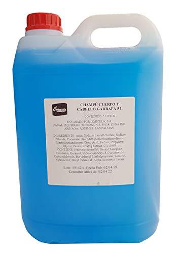 Gel y champú 2 en 1. Dermatológico para cuerpo y cabello en garrafa de 5 litros. Higiene, limpieza y cuidado de la piel