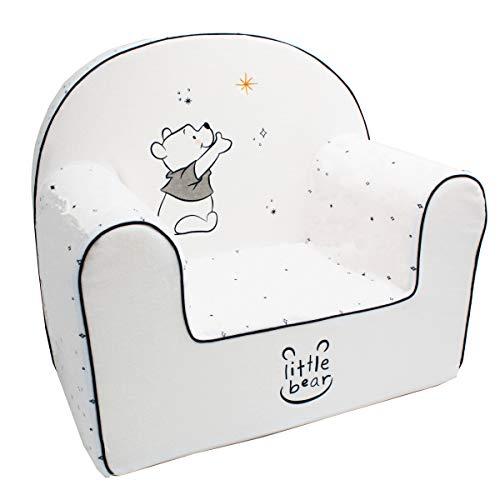 Babycalin DIS550003 Petit Fauteuil enfant Droit déhoussable Disney Winnie Moon Blanc