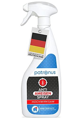 Patronus Anti Ameisen-Spray für drinnen & draußen 500ml - effektives Ameisenmittel zum bekämpfen von Ameisen für Haus & Garten mit Sofort- & Langzeitwirkung - biologisch abbaubar & geruchsneutral