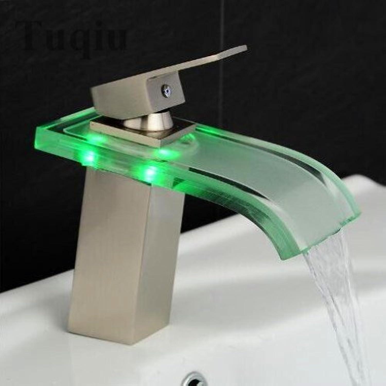 Neue Ankunft qualitativ hochwertigen Schwarz Chrom Nickel Messing Waschbecken Waschbecken Wasserhahn, Nickel-Led