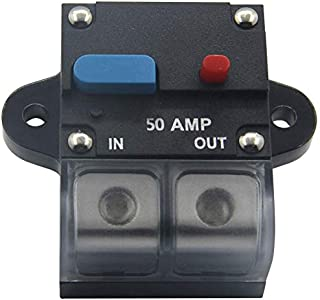 MagiDeal Auto RV Marine Motor Circuit Breaker 20A-50A Manual Reset with Waterproof Cover 30AMP