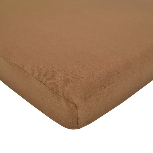 American Baby Company Supreme 100% Natural Cotton Jersey Knit Fitted Crib Sheet for Standard Crib and Toddler Mattresses, Chocolate, Soft Breathable, for Boys and Girls