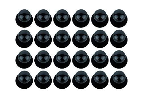 DESERMO 24x Kugelknöpfe für Kochjacken im Vorrats-Set - Kochjackenknöpfe - Erhältlich in verschiedenen Farben (Schwarz)