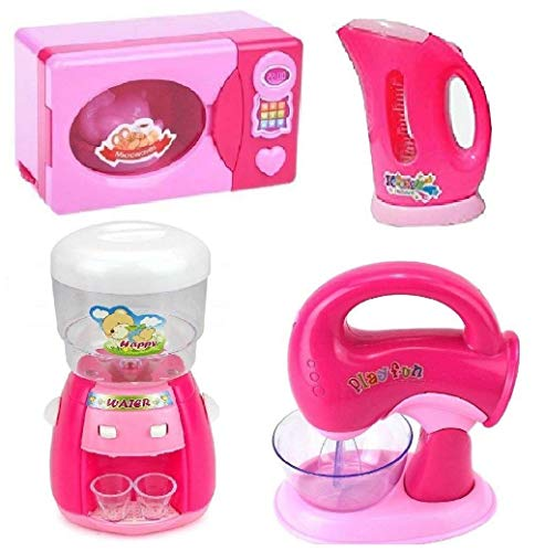 Zest 4 Toyz Battery Operated Set of 4 Pieces Household Home Appliances Kitchen Play Sets Toys for Girls with Realistic Sound|| Washing Machine , Sewing Machine, Vacuum Cleaner & Iron ||