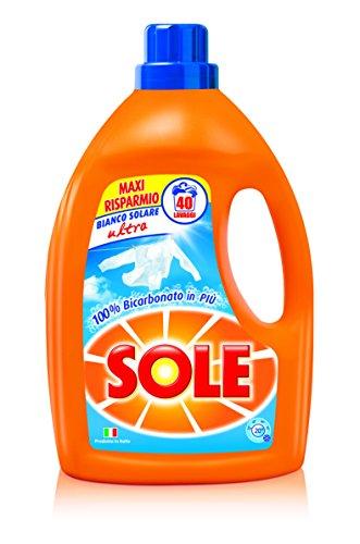 Sole Bianco Solare Ultra Detersivo Liquido per Lavatrice - 3 pezzi da 2600 ml [7800 ml]