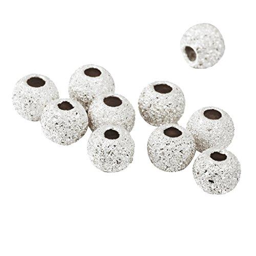 Nobranded 10 Piezas 3 Colores 925 Plata Esterlina Espaciador Abalorio Suelto para Collar de Pulsera - 3mm