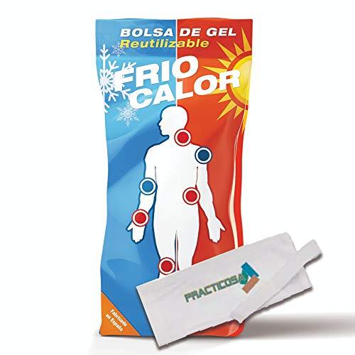Bolsa De Gel Frío-calor Reutilizable Sport 13x27cm + Funda Con Velcro, Fabricado En España