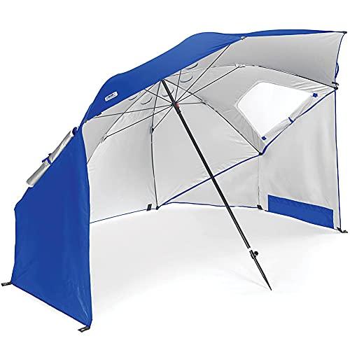 RTGE Sombrilla de Playa Plegable Azul para Exteriores Sombrilla de Pesca con sombrilla para Pesca Salvaje Unisex con Techo Solar Multiusos para jardín,fácil instalación Plegable,1 tamaño