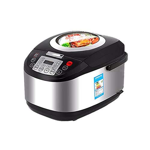 Rijstkoker, 5L rijstkoker Rises 4-6 Mensen met grote capaciteit Smart Sunroof Household rijstkoker Black