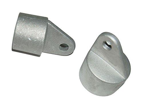Zaun-Nagel Strebenkappen Aluminium Ø 34mm - Paket á 6 Stk.