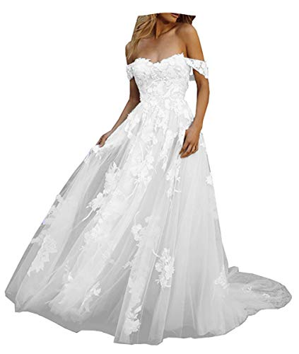 Wedding Dress Off the Shoulder Con Tull Puffy