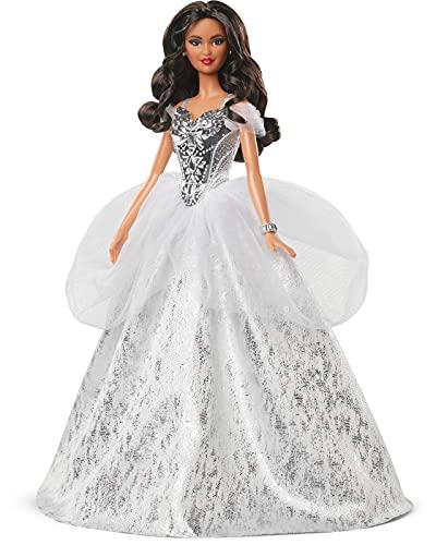 Barbie - Signature Magia delle Feste 2021 Latina con Capelli Castani SIOC, Giocattolo per Bambini 6+Anni, GXL23