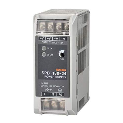 SPB-180-24, Power Supply, Din Rail mounting, Switching, 24 VDC Output,180 Watts, 7.5 Amp 100-240 VAC Input