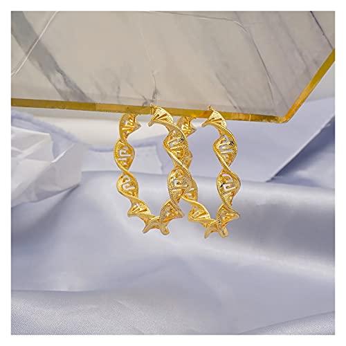 DSJTCH Nuevo diseño Conjunto de Joyas de Cadena Larga Conjuntos de Rhinestone Rojo Collar de Boda Pendiente Regalo Colgante (Metal Color : Rose Gold Color)
