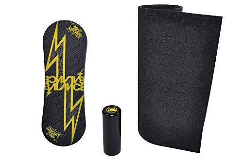 Trickboard Balance Board SET - Yellow Thunder + Roller + Teppich - Balance training