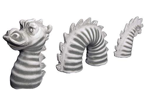 gartendekoparadies.de Massive Steinfigur Ungeheuer Loch Ness Nessie Dinosaurier Wurm aus Steinguss frostfest