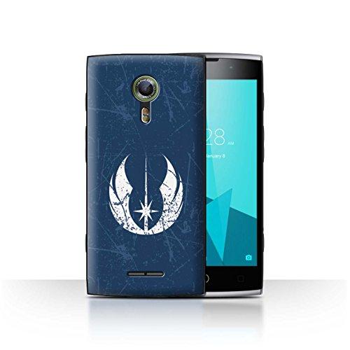 Hülle Für Alcatel Flash 2 Galaktisches Symbol Kunst Jedi-Befehl Inspiriert Design Transparent Ultra Dünn Klar Hart Schutz Handyhülle Case