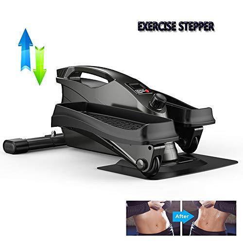 YZU Mini Twist Stepper für Fitness und Aerobic, Unter Schreibtisch Ellipsentrainer, Pedal Exerciser, Fitness Stepper für Zuhause und Büro, Maximale Belastung 130 kg