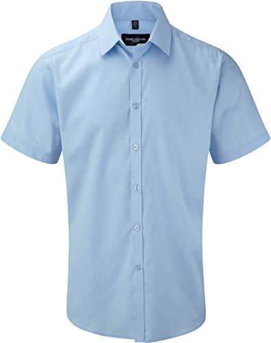 Russell Collection - Chemise Homme Manche Courtes à Chevrons Russel
