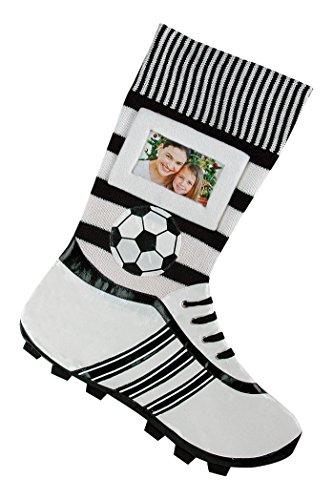 Voetbalsokken foto-sok wit
