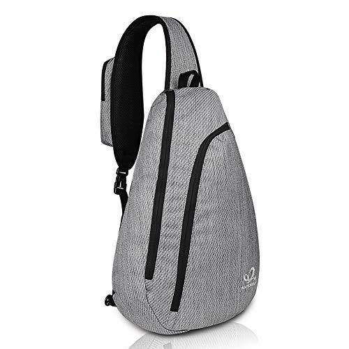 WATERFLY Sling Backpack Sling Bag Crossbody Backpack Daypack for Cycling Walking Hiking